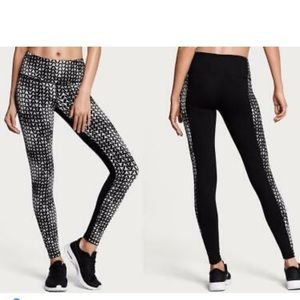 VS BLACK WHITE PIXEL SPORT KNOCKOUT TIGHTS PANTS